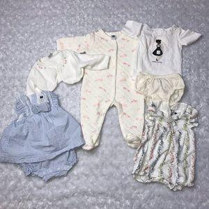Janie & Jack Baby Girl Lot Dress Pajama Cardigan